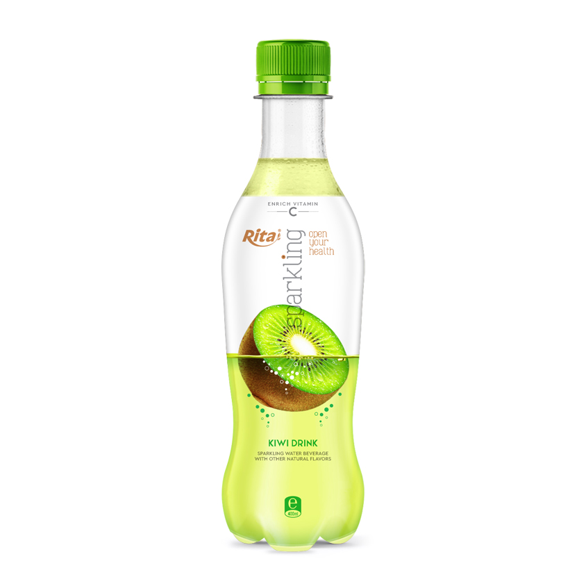 400ml Pet bottle sparkling kiwi fruit flavor water drink