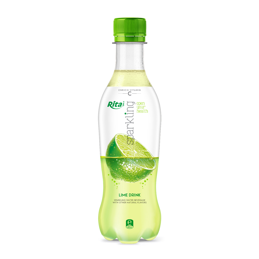 400ml Pet bottle sparkling Lemon flavor water