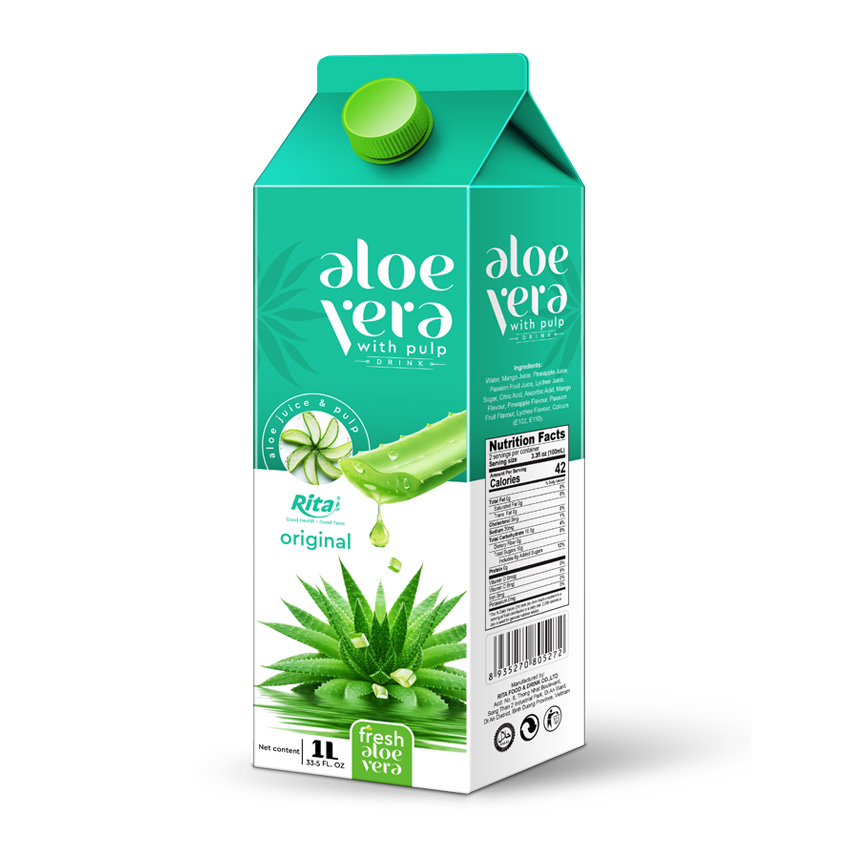 1000ml Paper Box Packing Aloe Vera Juice Drink