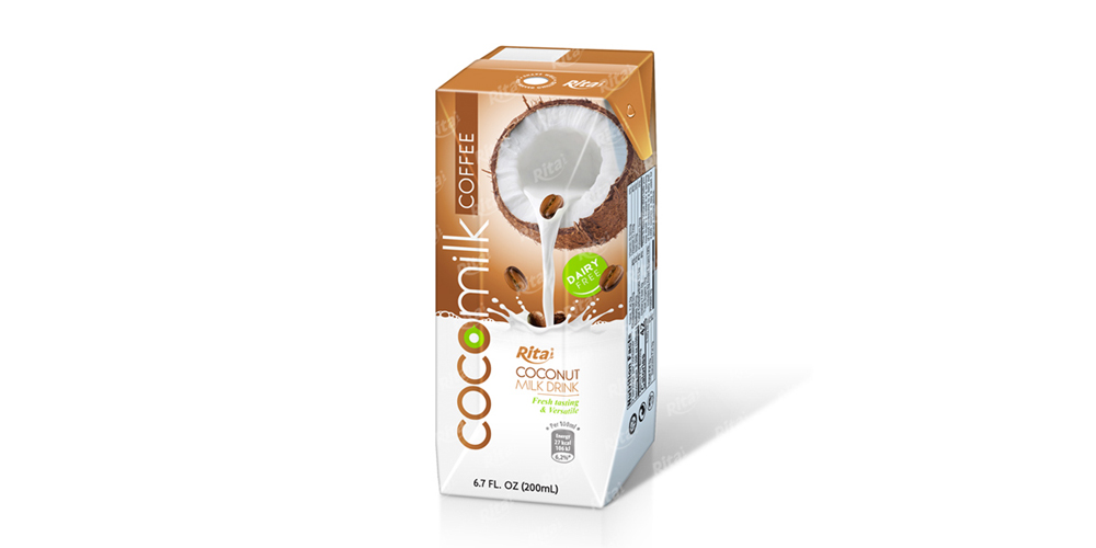 Coco Milk with  coffee flavour in Aseptic packing 200ml