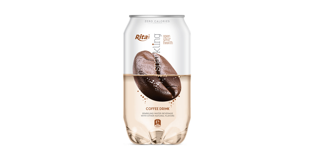 Sparkling drink with coffee flavor fresh summer