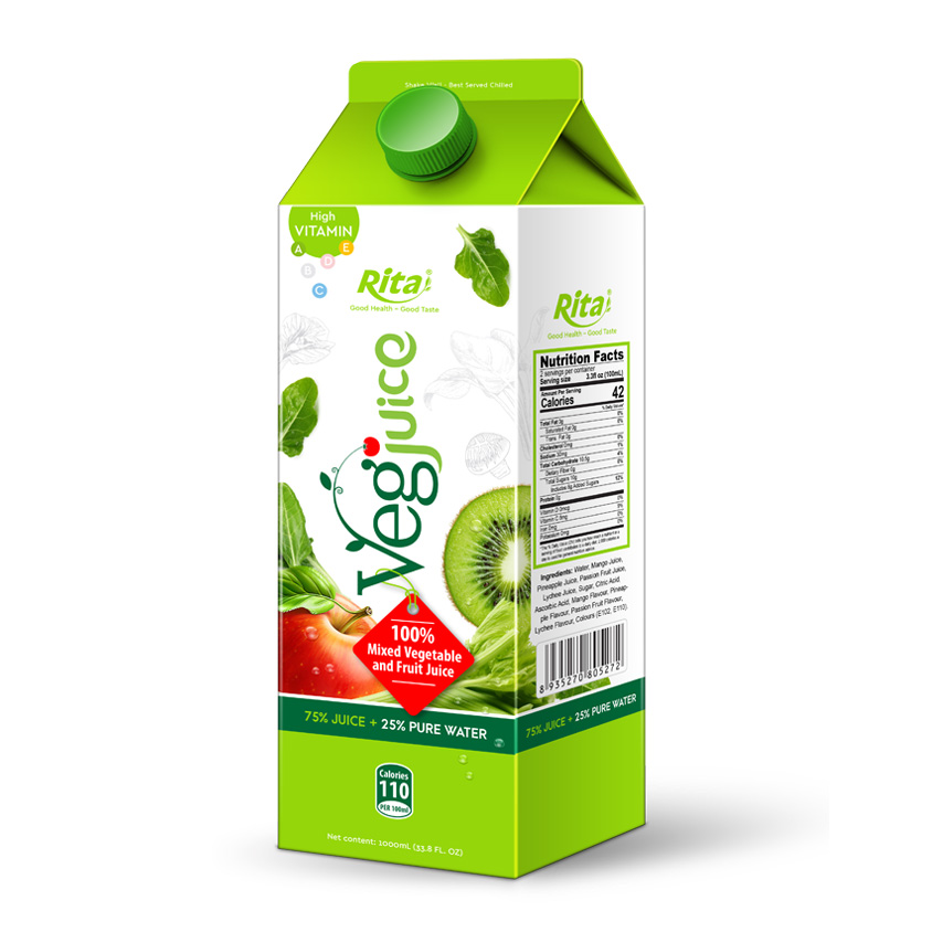 1000ml Paper Box Mixed Vegetables Juice Drink