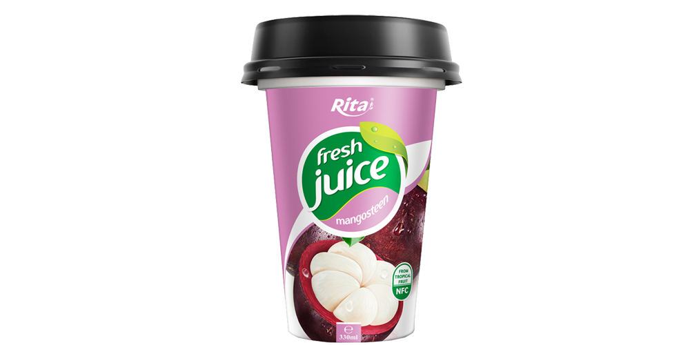 Design Packing mangosteen juice in pp cup 330ml