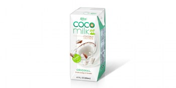 Coco Milk with  coffee flavour in prisma pak 200ml