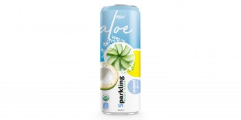 Private label brand Sparkling  aloe vera  coconut 320ml from RITA UK