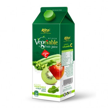 1000ml Paper Box Mixed Vegetables Juice