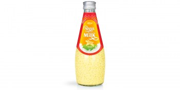 fruit juice brands vanilla with Basil seed Milk 290ml from RITA UK