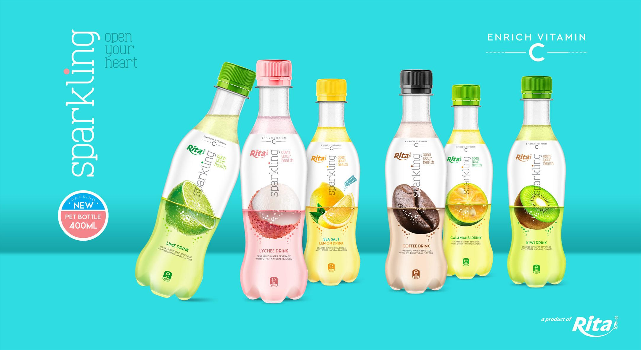 banner 400ml sparkling fruit flavor water